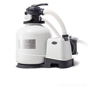 Песочный насос с хлоргенератором Intex 26676, 6 000 л/ч хлор 7 г/ч, 35 кг, (Оригинал)
