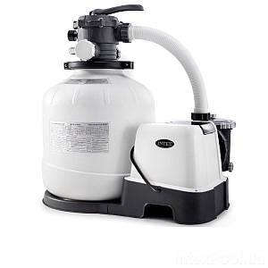 Песочный насос с хлоргенератором Intex 26680, 10 000 л/ч, хлор 11 г/ч, 55 кг, (Оригинал)