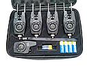 Набор сигнализаторов 4+1 Sams Fish с боковыми фиксаторами и фонариком, фото 5