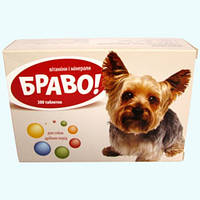 Витамины и минералы Браво для маленьких собак 300таб