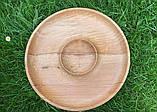 Дерев'яна менажниця шашличниця з соусом D35 см., фото 5