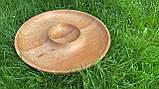 Дерев'яна менажниця шашличниця з соусом D35 см., фото 6
