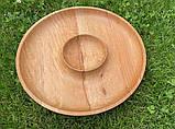 Дерев'яна менажниця шашличниця з соусом D35 см., фото 8