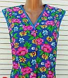 Річний халат без рукава 52 розмір Рожеві квіти, фото 4
