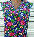 Річний халат без рукава 52 розмір Рожеві квіти, фото 5