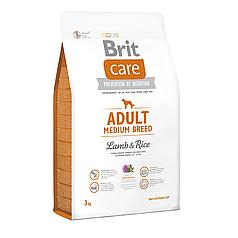 Корм Brit Care Adult Medium Breed Lamb & Rice  3 кг (для собак весом от 10 до 25 кг) Срок до 13.09.21
