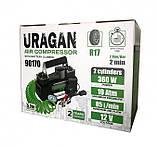 Автокомпресор Uragan 90170 85 л/хв (2-х поршневий), фото 3