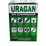 Автокомпресор Uragan 90170 85 л/хв (2-х поршневий), фото 6