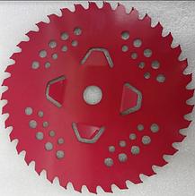 Ніж для мотокіс 40-лопатевої c побідитовими напайками (Червоний)