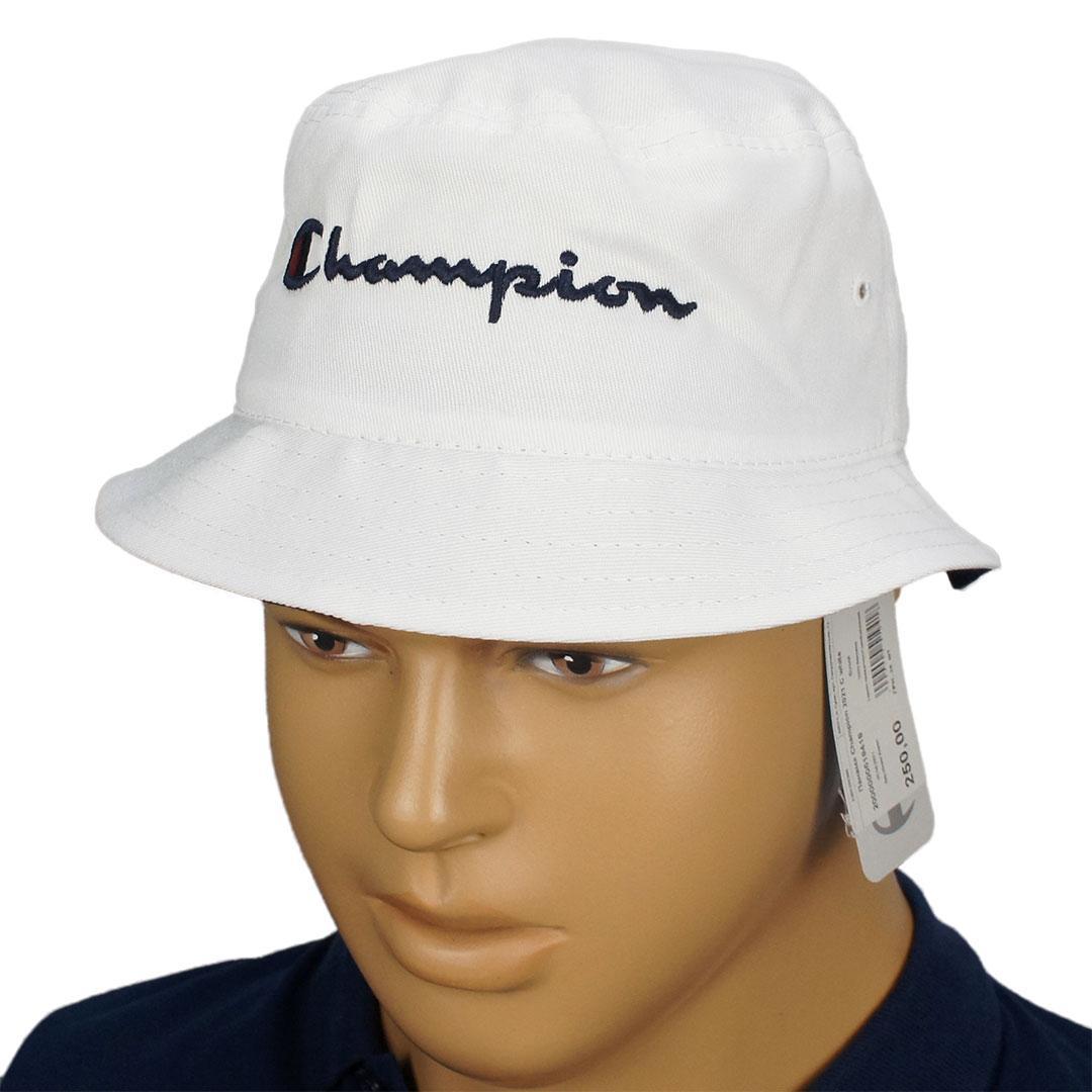 Белая хлопковая панама Champion 2021 C white