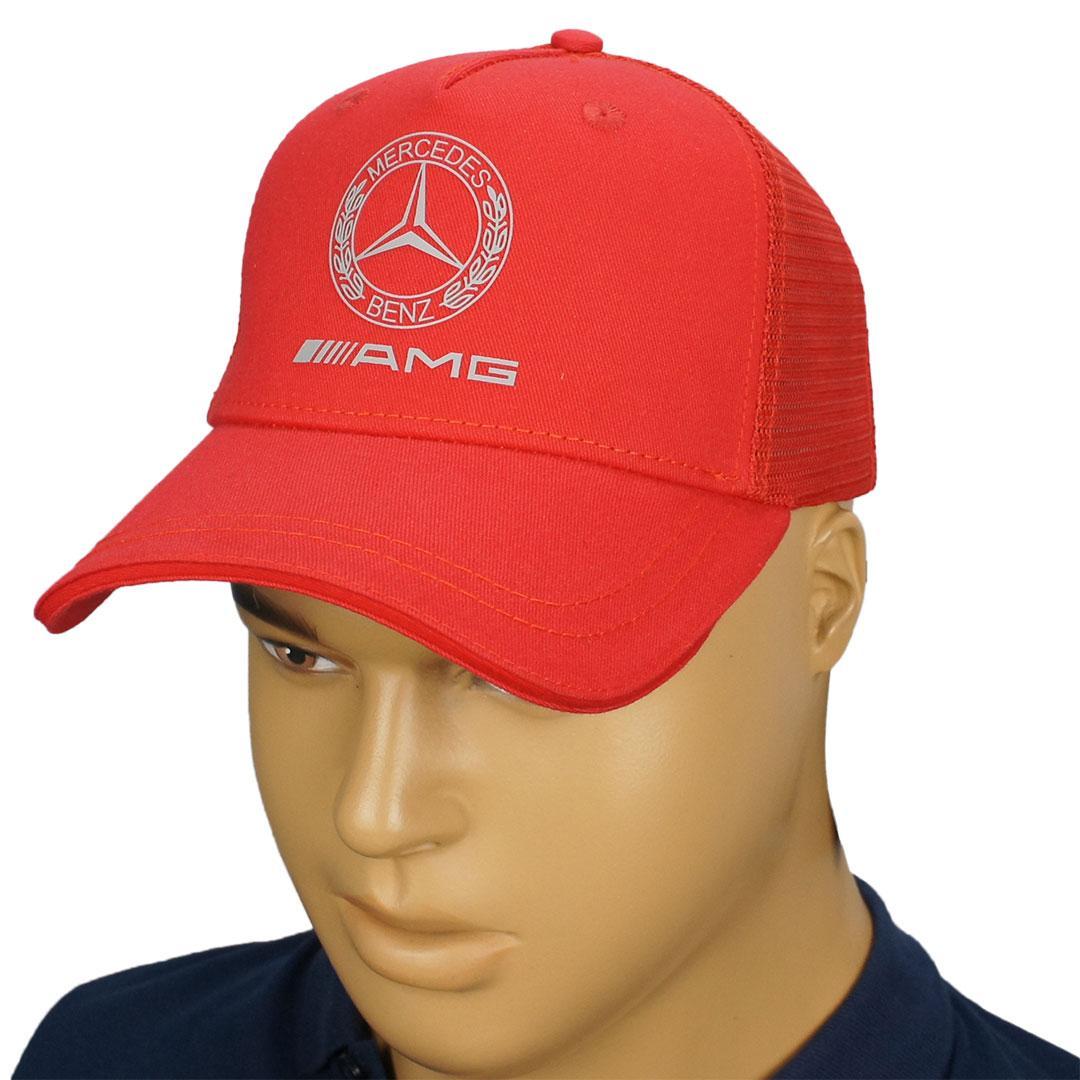 Червона чоловіча бейсболка з логотипом Mercedes 2021 M red