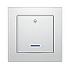 """Выключатель одноклавишный с LED подсветкой проходной серия """"IDEAL WHITE"""" ТМ""""MARSHEL"""""""