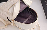 Женский городской рюкзак с брелком мини рюкзачок, набор 2 в 1 рюкзачек + ключница кошелек Розовый, фото 7