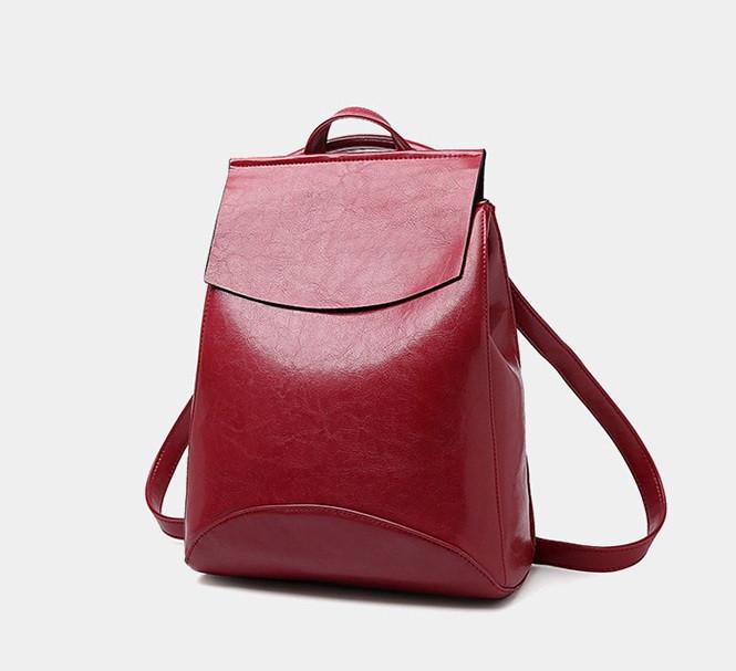 Жіночий міні рюкзак екокожа Червоний