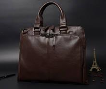 Якісна чоловіча сумка для ноутбука еко шкіра, чоловічий портфель під ноутбук, планшет, ноутбук, макбук