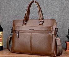Чоловіча сумка для ноутбука еко шкіра, чоловічий діловий портфель під ноутбук планшет лаптоп, макбук сумка-папка