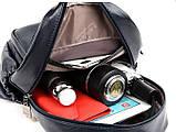 Женский городской рюкзак повседневный рюкзачок с кенгуру качественный, модный портфельчик эко кожа Коричневый, фото 2