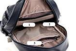 Женский городской рюкзак повседневный рюкзачок с кенгуру качественный, модный портфельчик эко кожа Коричневый, фото 4