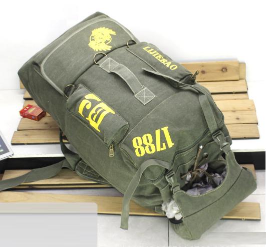 Рюкзак туристичний зелений великий Lijiebao 90 л.