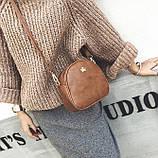 Жіноча міні сумка з короною Світло-коричневий, фото 3
