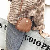 Жіноча міні сумка з короною Світло-коричневий, фото 4