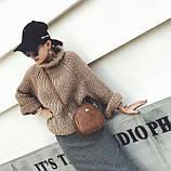 Жіноча міні сумка з короною Світло-коричневий, фото 5