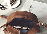 Жіноча міні сумка з короною Світло-коричневий, фото 6