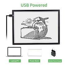 Доска для рисования светом светодиодная, световой планшет