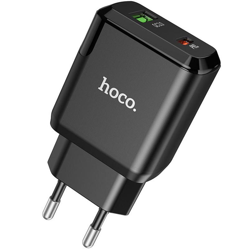 СЗУ 1USB + Type-C Hoco N5 PD20W+QC3.0 Black