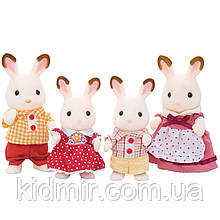 Sylvanian Families Семья Шоколадных кроликов Calico Critters CC1642