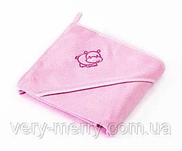 Дитячий махровий рушник Sensillo Hippo Pink
