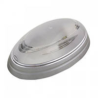 Світильник пластиковий Овал Нинова срібний
