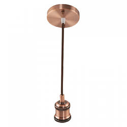 Светильник подвесной TESLA Е27 медь