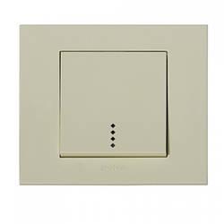 Выключатель 1-клавишный с подсветкой кремовый GRANO