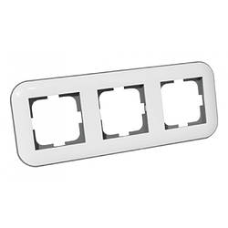 Рамка 3-а LOFT білий+сірий