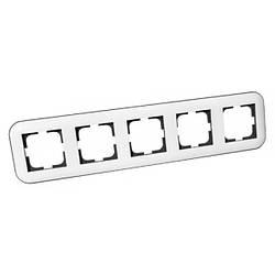 Рамка 5-а LOFT білий+сірий
