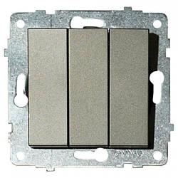 Механізм вимикача 3-клавишного GRANO антрацит