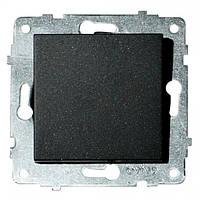 Механизм выключателя 1-клавишный GRANO черный
