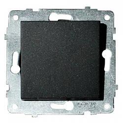 Механізм вимикача 1-клавішний GRANO чорний