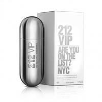 Женская парфюмированная вода Carolina Herrera 212 VIP Silver, 80 мл