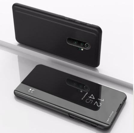 Чехол Mirror для Xiaomi Redmi 9 книжка зеркальная ( черный )