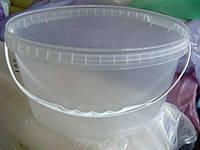 Ведро пластиковое пищевое 5.9л. с крышкой(овальное)
