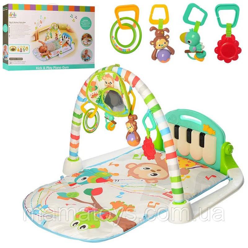 Коврик пианино для младенца 63558 Звук, свет, 90-50 см
