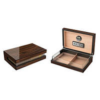 Хьюмидор 600319 для 25 сигар, коричневый, лак,стекло, 31,5х19,5х9,5 см