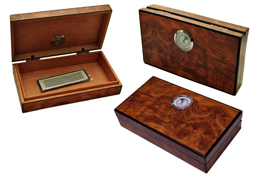 Хьюмидор 92063 мини для 5 сигар, св.коричневый ,19х11х4 см, фото 1