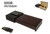 Хьюмидор 92038 для 5 сигар, черный/темно красный, + пепельница 34х13х5см