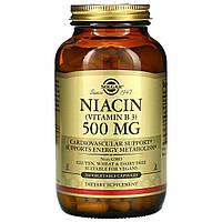 Solgar, витаминВ3 (ниацин) 500мг, 250растительных капсул