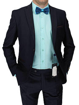 Чоловічий костюм Paulo Boselli Art.No316 в темно-синьому кольорі