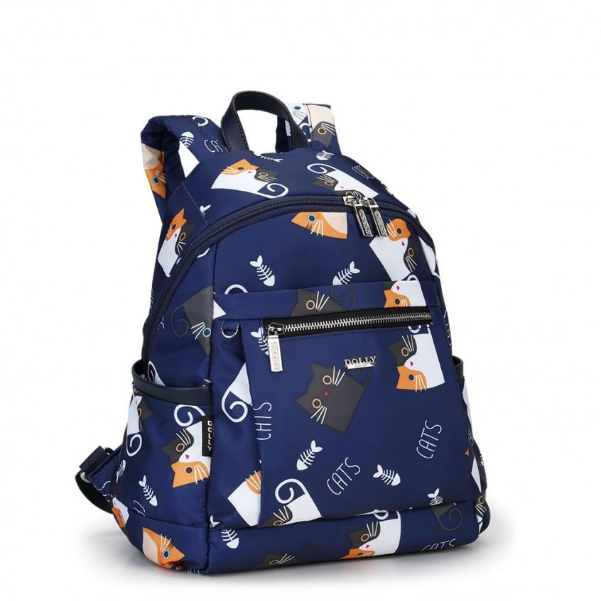 Молодежный тканевый рюкзак Dolly 386 с принтом котята 25x35x15 см