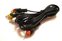 Кабель Аудио-Видео Jack 2.5 (4pin) на штекер 3 RCA 1.5м